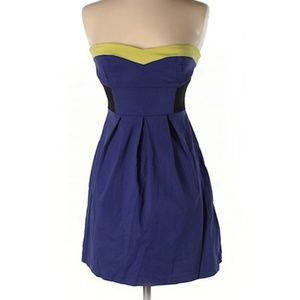 Urban Outfitters | strapless purple dress